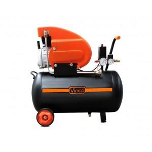 Image of Compressore con ruote 24 LT Vinco 60600 doppio manometro 8bar monofase 188 l/m 7106893446864