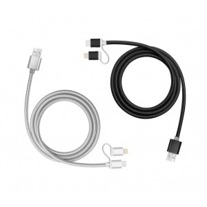 893267 Cavo 2 in 1 micro USB e adattatore Lightning ricarica e dati 39 cm