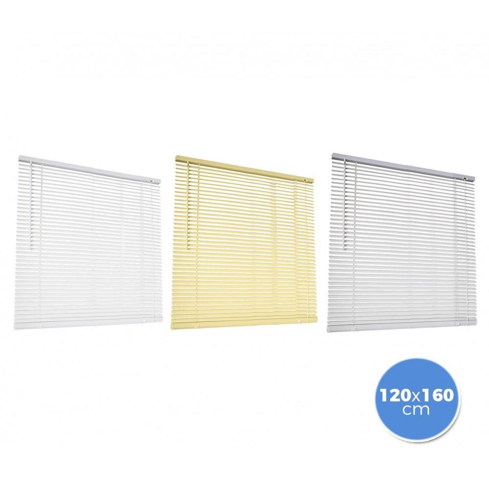 007774 Tenda da sole veneziana 120 x 160 cm per interno in pvc
