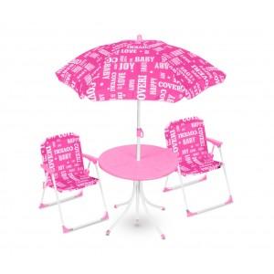 Image of Set da giardino per bambini 3177110 COVERI BABY tavolino sedie e ombrellone 7106893630485