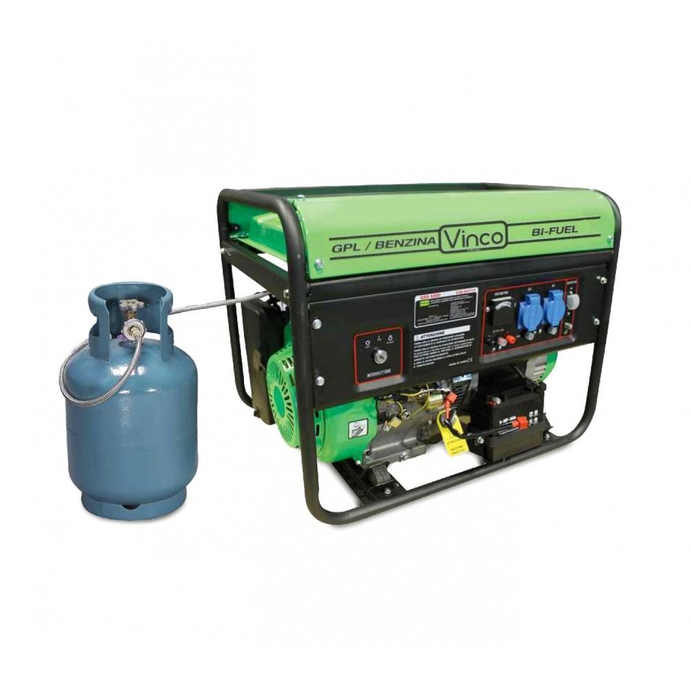 60173 generatore di corrente bifuel gpl benzina vinco 5 for Generatore di corrente lidl