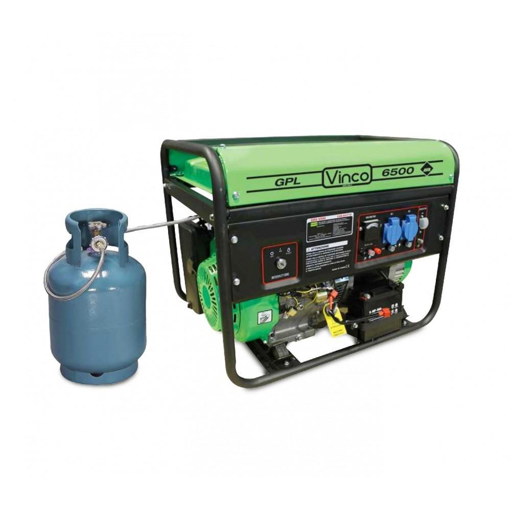 60171 Generatore di corrente alimentazione GPL VINCO monofase 4,8kw 4tempi 389cc