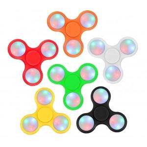 Image of Fidget spinner LED gioco antistress 4280 in diversi colori Triangle plastica 7106891767343