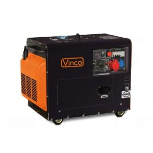 60230Generatore di corrente VINCO motore diesel SILENZIATO mono/trifase 456cc