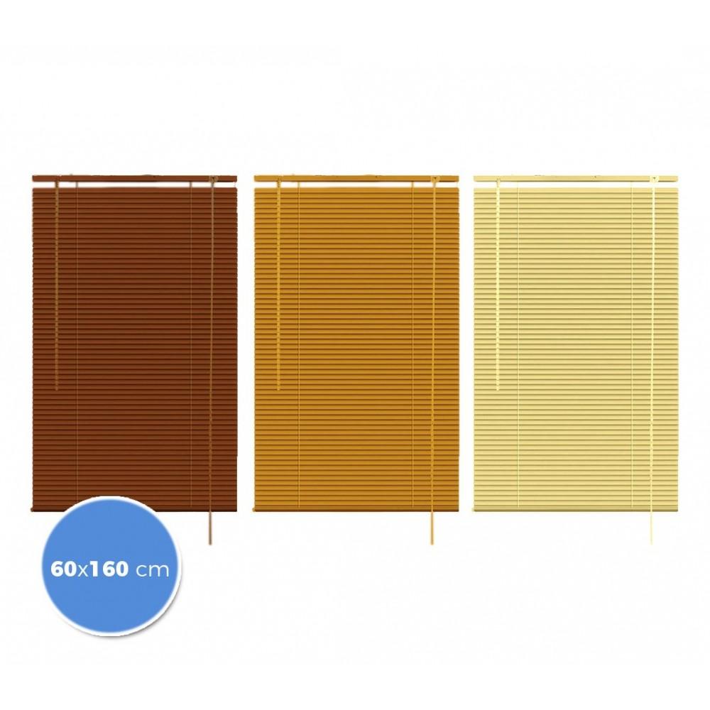007774 Tenda da sole veneziana 60 x 160cm per interno effetto legno