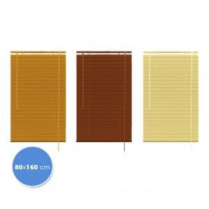 007774 Tenda da sole veneziana 80 x 160cm per interno effetto legno
