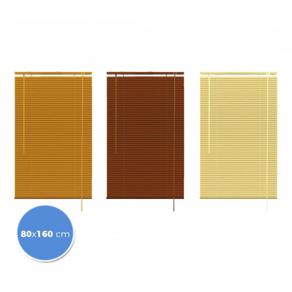 032042 Tenda da sole veneziana 80 x 160cm per interno effetto legno