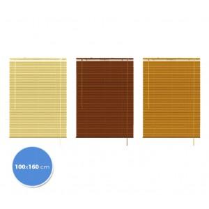 007774 Tenda da sole veneziana 100 x 160 cm per interno effetto legno