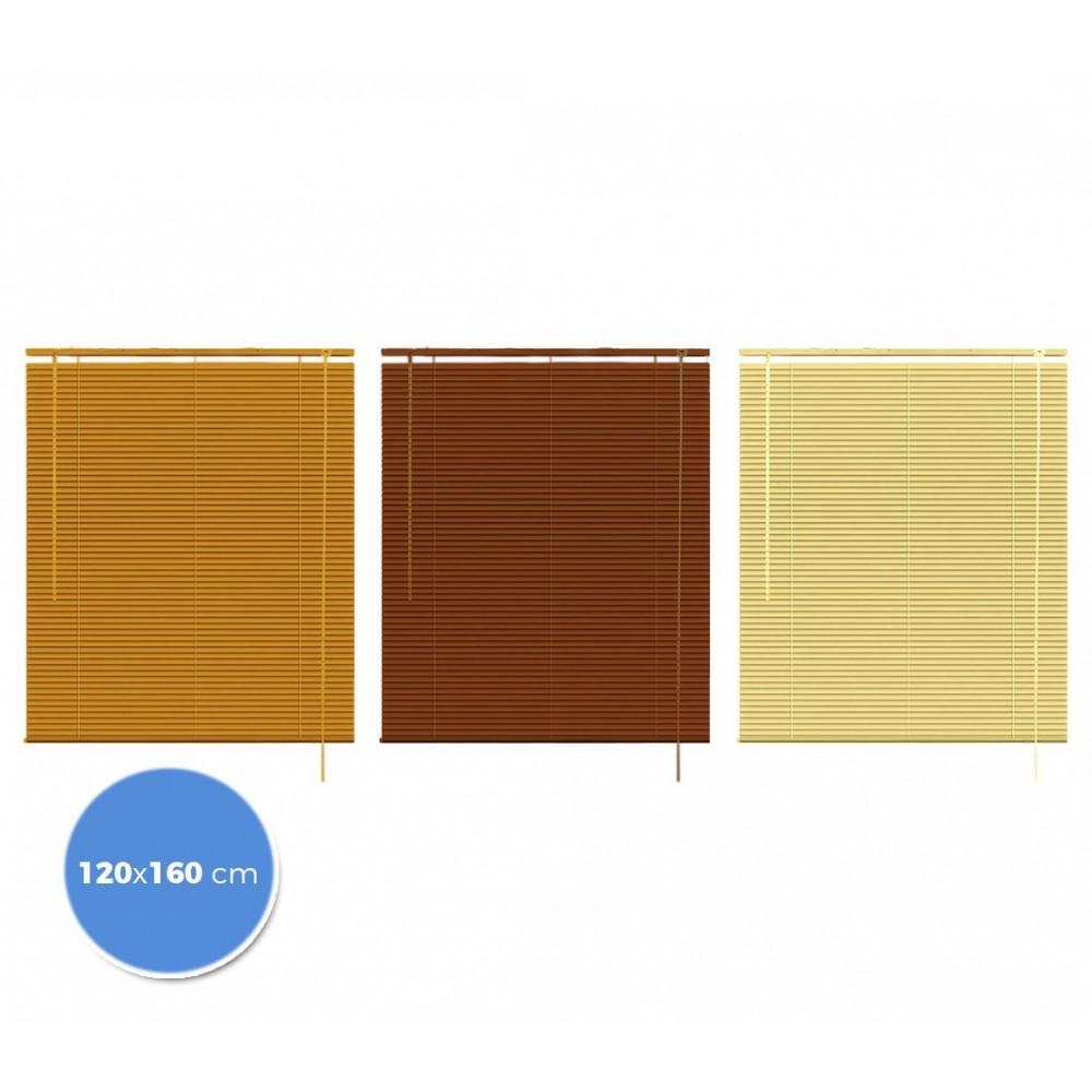 032066 Tenda da sole veneziana 120 x 160 cm per interno effetto legno