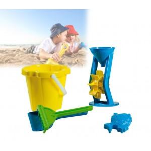Set giochi mare e spiaggia per bambini 4286 con secchiello e accessori colorati