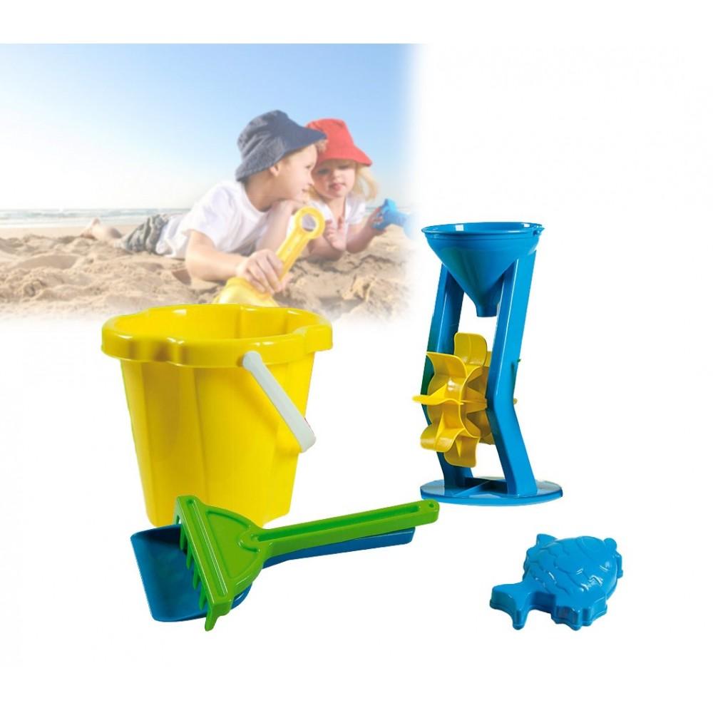 Set giochi mare 7 pz per bambini 226582 con secchiello e accessori colorati