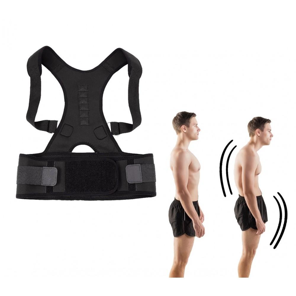 Supporto fascia posturale con magneti 70097 real doctor correzione spalle
