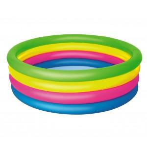51117 Piscina gonfiabile arcobaleno Bestway 4 anelli 157 x 46 cm
