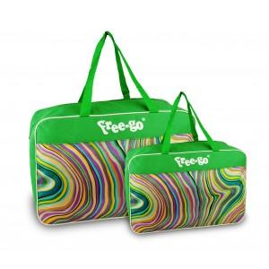 Image of Doppia borsa termica free-go 375815 modello Summer Wave doppio manico 7106894831348
