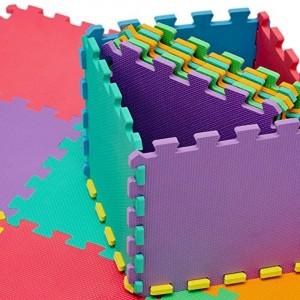 2814 Tappeto da gioco puzzle componibile colorato 10 pezzi 30 X 30 cm