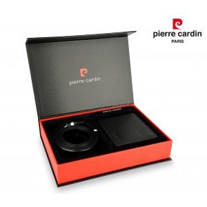 Set cintura e portafoglio 8806 LUKAS03 PIERRE CARDIN in vera pelle idea regalo