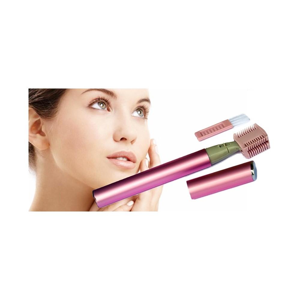 Micro touch magic rasoio donna viso regola ciglie con pettine pulizia