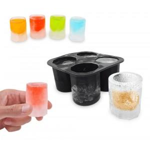 Image of Stampo per ghiaccio 4218 a forma di bicchiere in gomma siliconata 10x10x5,5cm 7106894734649