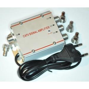 Image of Amplificatore splitter sdoppiatore segnale tv da 1 a 3 uscite digitale terrestre 7106899117836