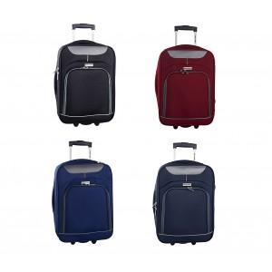 Trolley bagaglio a mano 161038 PIERRE CARDIN in tessuto 46 x 33 x 16.5 cm