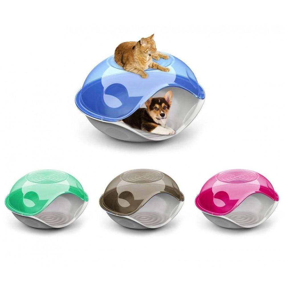 Cuccia chiusa per gatti e cani DUCK PLAIN 20104 comoda 57 x 48 x 32 cm
