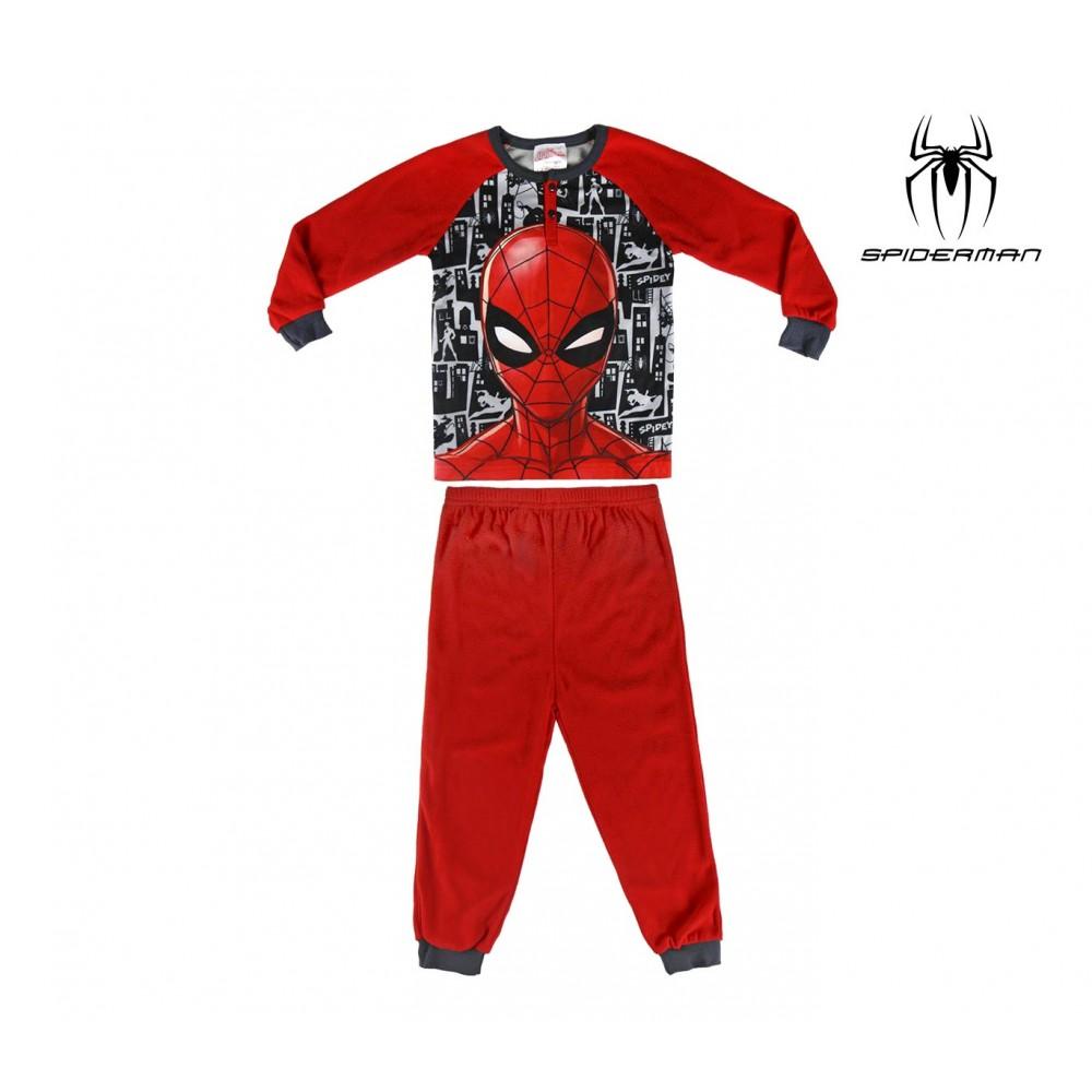 Pigiama da bambino 22-2312 Spiderman in pile taglie dai 3 ai 6 anni