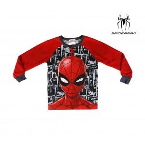 Pigiama da bambino 2200002312 Spiderman in pile taglie dai 3 ai 6 anni