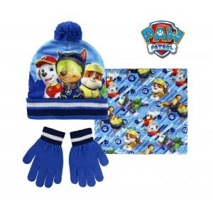 Image of Completo 3 pz per bambini inverno PAW PATROL 2200002441 cappello guanti pashmina 7106894071263