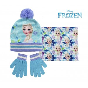 Completo per bambini inverno FROZEN 2200002445 cappello guanti e pashmina