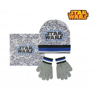 Completo per bambini inverno Star Wars 2200002540 cappello guanti e pashmina