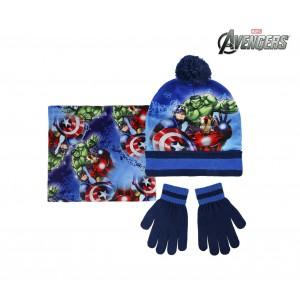 Completo per bambini inverno AVENGERS 2200002543 cappello guanti e pashmina