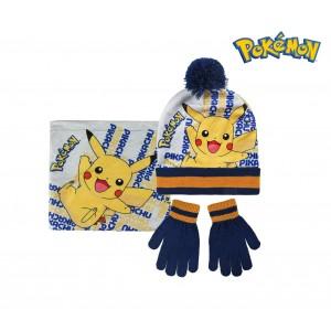 Completo per bambini inverno POKEMON 2200002544 cappello guanti e pashmina