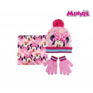 Completo per bambini inverno Minnie 2200002550 cappello guanti e pashmina