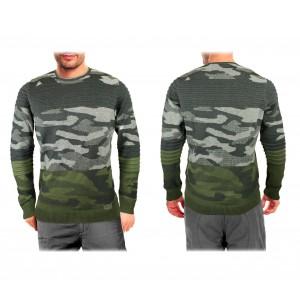 Maglione da uomo 3027 modello SOLDIER mimetico taglie dalla S alla XL