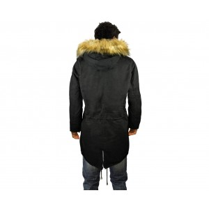 Image of Giubbotto Z-DESIGN parka uomo D-201 mod. WINTER COOL cappuccio con pellicciotto 7106891928355