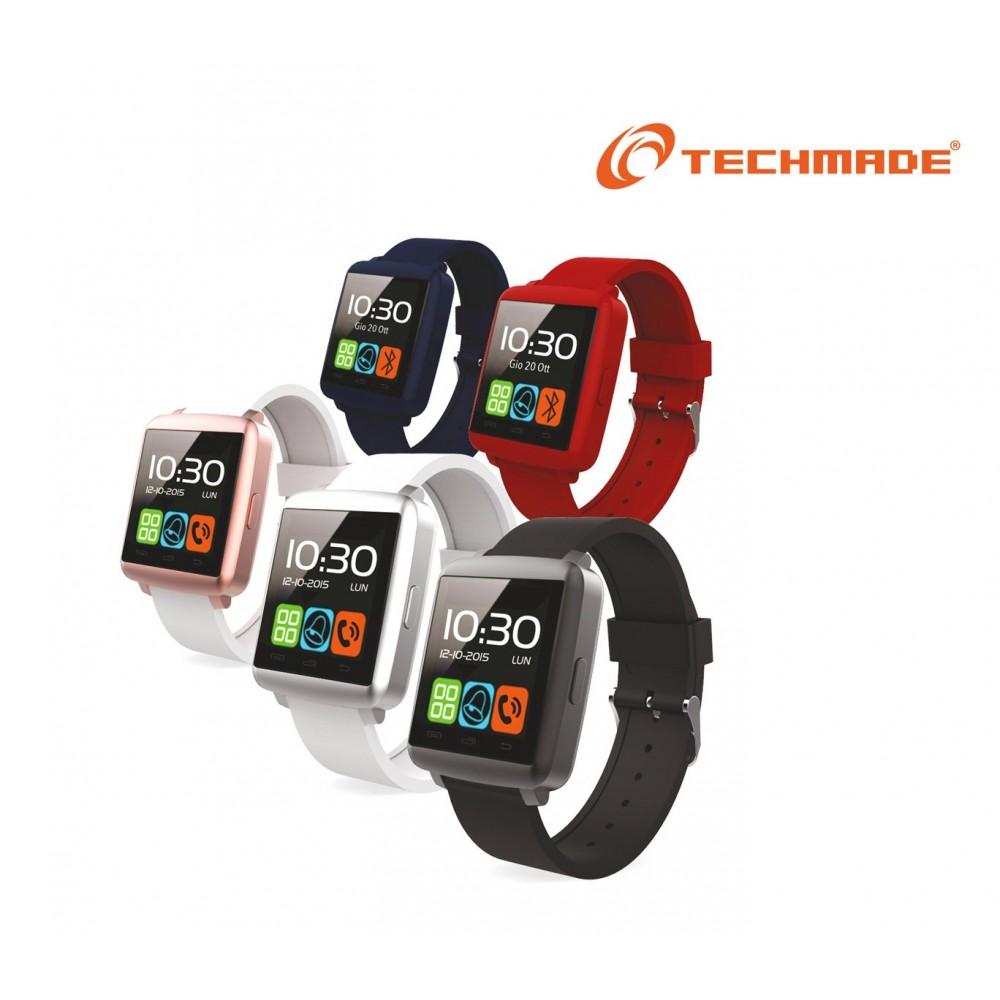 "Smartwatch bluetooth Techmade TechWatchONE mini display touch 1.44""con microfono"
