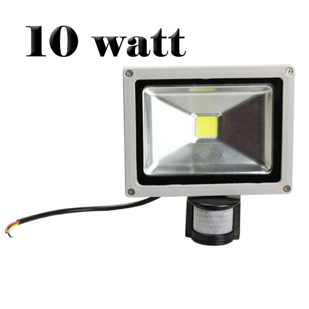 Faretto a led con sensore di movimento e crepuscolare faro luce fredda 10W 20W 30W 50W
