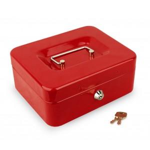 Cassetta portavalori di sicurezza 157174 con chiave e 8 scomparti porta monete