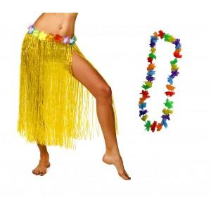 Costume da hawaiana 116881 per feste a tema 3 pezzi  taglia unica