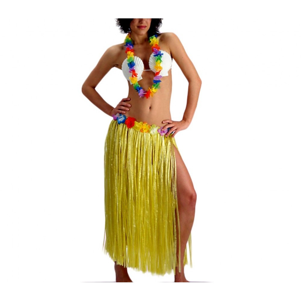 Costume da hawaiana ART e PARTY 440533 per feste a tema 3 pezzi taglia unica