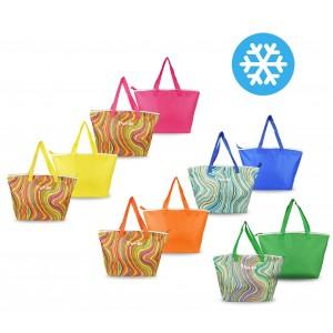 Borsa termica FREE-GO 375839 fantasia onde multicolore doppio manico