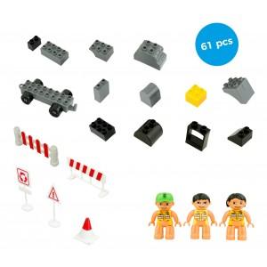 Playset mattoncini ALLEGRO CANTIERE 61 elementi da assemblare CIGIOKI