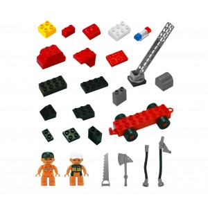 Playset mattoncini VIGILI DEL FUOCO 67 elementi da assemblare CIGIOKI