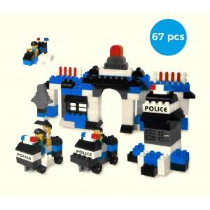 Playset mattoncini 339527 POLICE STATION 67 elementi da assemblare CIGIOKI