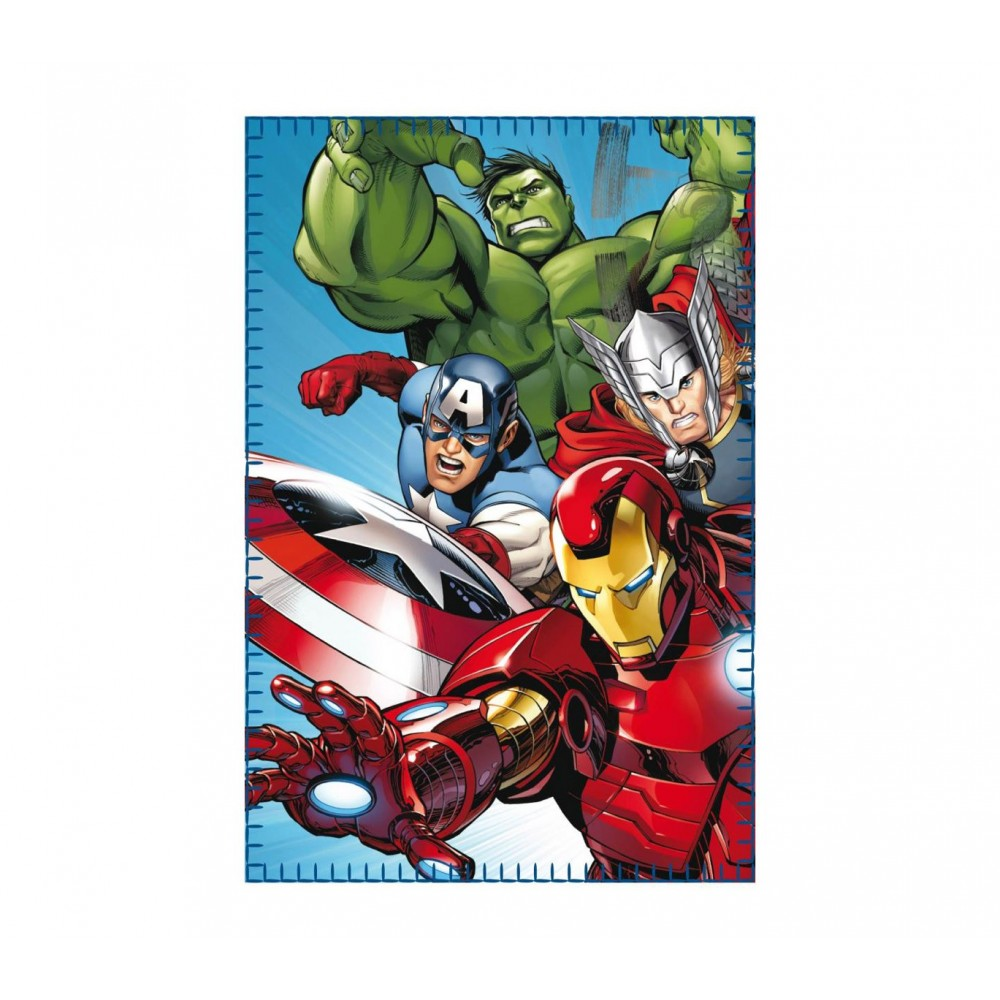 Coperta in morbido e caldo pile 437441 THE AVENGERS 100 x 150 cm plaid