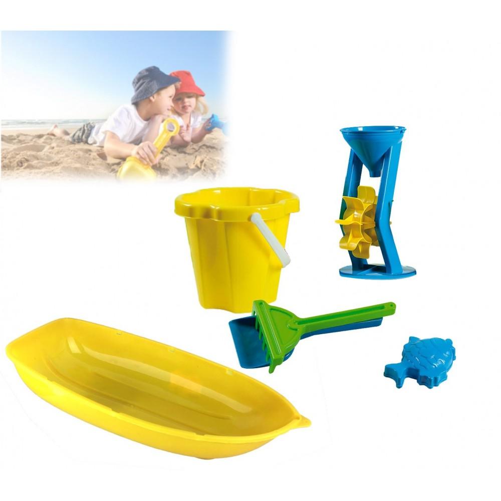 Set 9 pezzi giochi mare e spiaggia 226704 per bambini secchiello con accessori