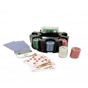 Image of Set poker game 027035 CIGIOKI 2 mazzi di carte 96 fiches con contenitore 7106892014057
