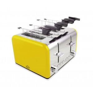Tostapane elettrico TA8660 DCG in acciaio 4 scomparti con funzione scongelamento