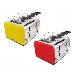 Tostapane elettrico TA8660 DCG in acciaio 4 pinze 1400W funzione scongelamento