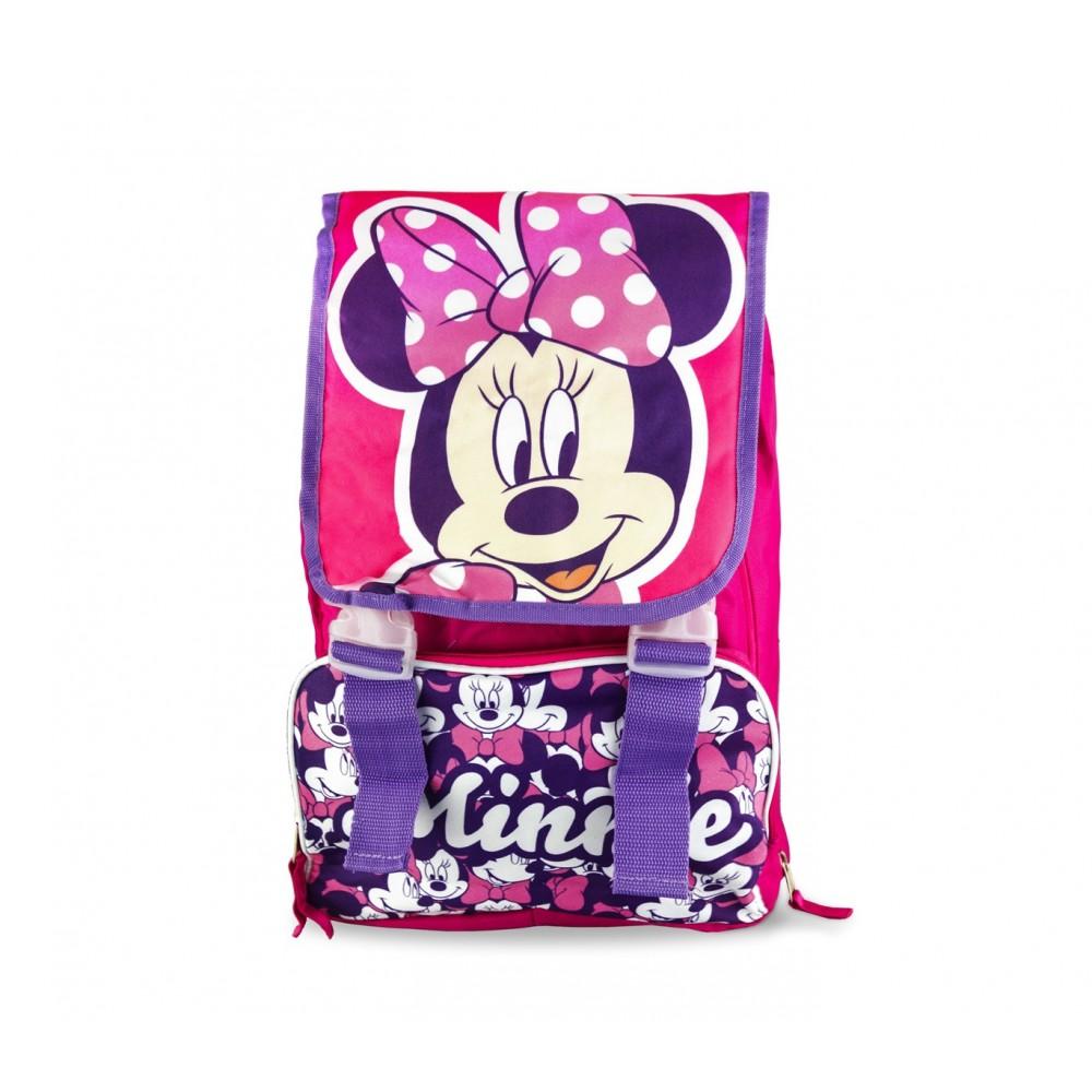 4a553ed01c Zaino scuola elementare Minnie Disney 21-1417 estensibile con tasca frontale